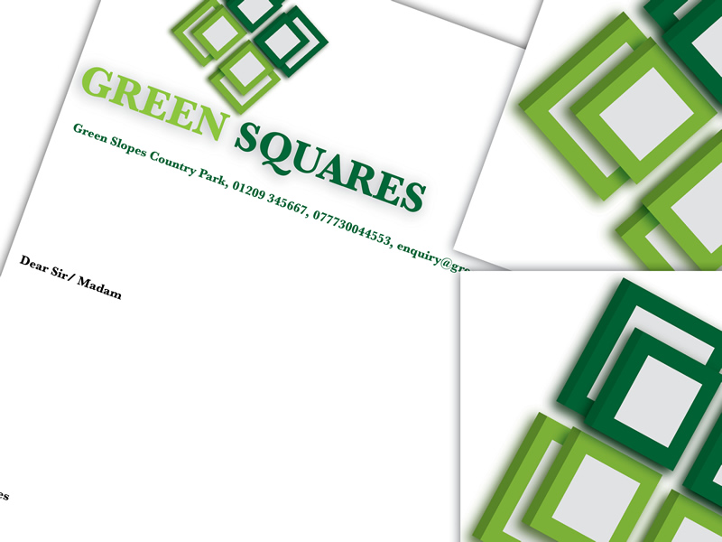 Branding Design for Green Squares.