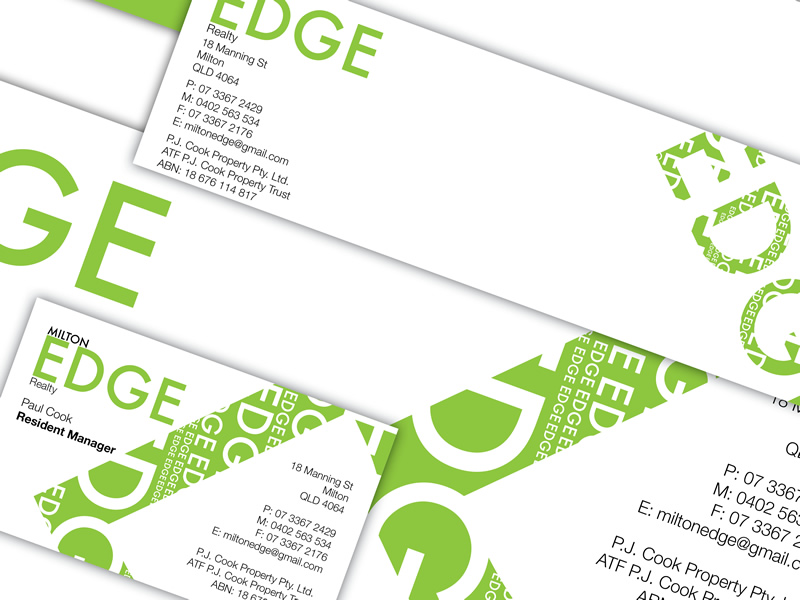 Milton Edge branding and designs.
